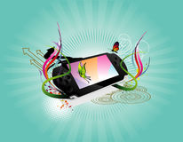 Portable game vector illustration Royalty Free Stock Image