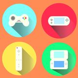 Portable Games. Flat Design illustrated portable games Royalty Free Stock Photo