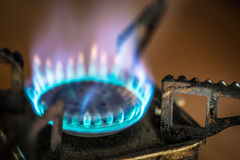 Portable gas burner. Royalty Free Stock Image