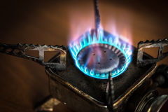 Portable gas burner. Stock Photos