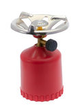 Portable gas-stove. Isolated on the white background Royalty Free Stock Photos