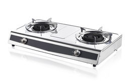 Portable gas stove. Isolated on white background Royalty Free Stock Photo