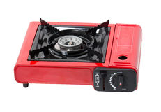 Portable Gas Stove. Portable Gas Stove Isolated on White Stock Photography