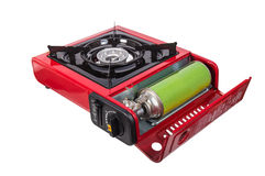 Portable gas stove Royalty Free Stock Images