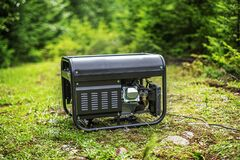Free Portable Gasoline Generator In The Open Air. Stock Image - 192791481