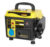 Portable generator stock photos