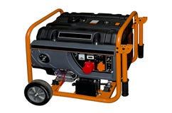 Portable generator. On a white background Stock Photos