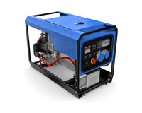 Portable generator isolated on a white background. Three-dimensional illustration of portable gasoline generator isolated on a white background Stock Photos