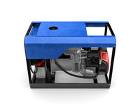 Portable generator isolated on a white background Stock Photography