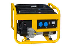 Portable generator. Small portable generator on a white background Stock Photos