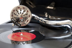 Portable gramophone Royalty Free Stock Images