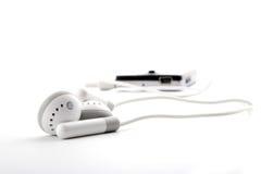 portable gris de joueur d'écouteurs Photographie stock