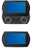 Portable handheld video game. Electronic portable handheld video game system Stock Photos