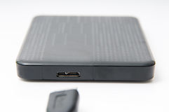 Portable hard disk drive Royalty Free Stock Images