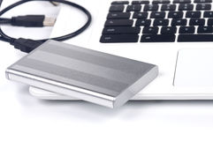 Portable hard disk Stock Images