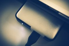 Portable Hard Drive Closeup Stock Photography