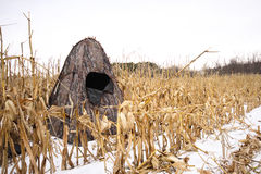 Portable Hunting Blind Royalty Free Stock Image