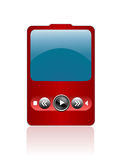 Portable ipod. With isolated background Stock Image
