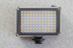Portable LED Light. On white Royalty Free Stock Photography