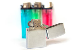 Portable lighter Stock Images