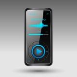 Portable media player. Editable  file Royalty Free Stock Photo
