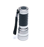 Portable metallic torchlight isolated Royalty Free Stock Photography