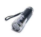 Portable metallic torchlight isolated Royalty Free Stock Images