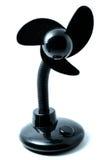 Portable mini fan. Portable black mini usb fan isolated on white Royalty Free Stock Photos