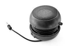 Portable mini speaker. Royalty Free Stock Image
