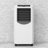 Portable Mobile Room Air Conditioner. 3d Rendering Royalty Free Stock Image