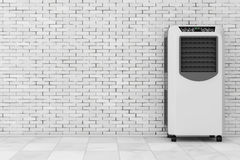 Portable Mobile Room Air Conditioner. 3d Rendering Stock Photo