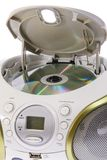Portable MP3, CD, DVD Audio. Isolated Stock Photos