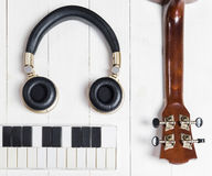 Portable Music instruments for song writing Stock Images