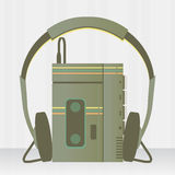 Portable music player vintage Royalty Free Stock Image