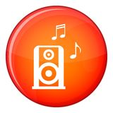 Portable music speacker icon, flat style Stock Images