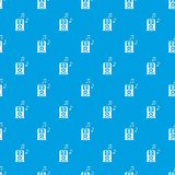 Portable music speaker pattern seamless blue Royalty Free Stock Photo