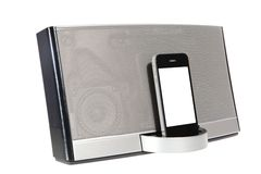 Portable music system Royalty Free Stock Images