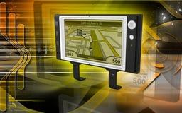 Portable navigator. Digital illustration Royalty Free Stock Photo
