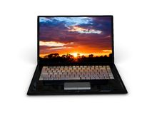 Portable notebook on white background Royalty Free Stock Image