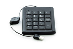 Portable number keyboard Stock Images