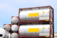 Portable oil and chemical storage tanks royalty free stock photos