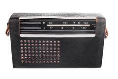 Portable old soviet radio in leather case Royalty Free Stock Image