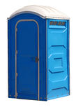 Portable outhouse Royalty Free Stock Photography