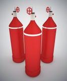 Portable oxygen tanks Stock Image