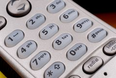 Portable phone key-pad detail Royalty Free Stock Photography