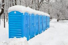 Portable plastic bio toilets Stock Photography