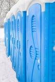 Portable plastic bio toilets Royalty Free Stock Images