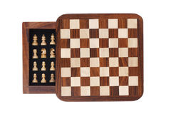 Portable pocket chess board Royalty Free Stock Photo