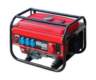 Portable power generator. Isolated with clipping path included Stock Photos