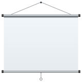 Portable Projection Screen. Blank portable projection screen, isolated on white background. Eps file available Stock Images